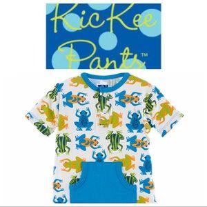 Kickee Pants Print Kangaroo Romper-Amazon Frogs